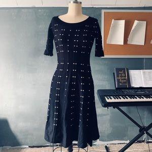 A line sweater dress